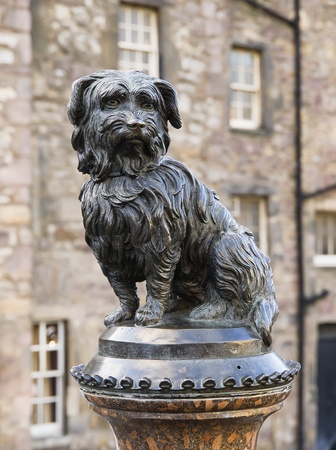 Statue tribute to the dog Greyfriars Bobby  Edinburgh