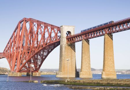 Forth Rail Bridge, Edinburgh, Scotland.This bridge connects the towns of North and South Queensferry. photo