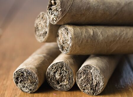 Cuban cigars closeup photo