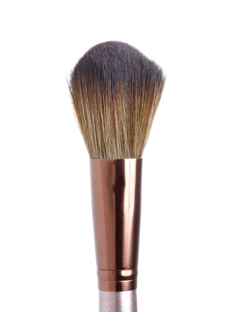 Blush brush for make-up  isolated on white photo
