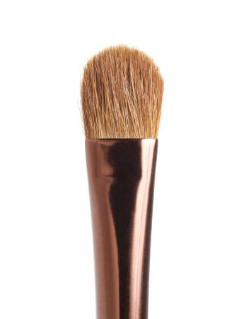 Brown brush for make-up  isolated on white photo