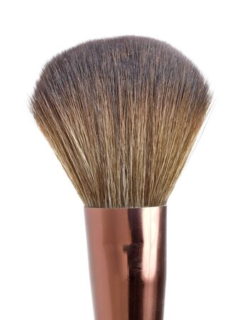 Powder brush for make-up  isolated on white photo