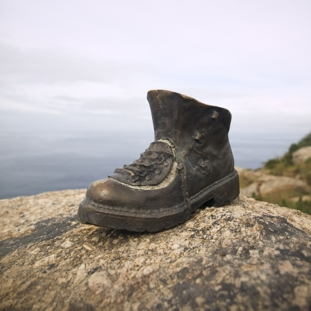 This boots made on metal are sited in the Finisterre photo