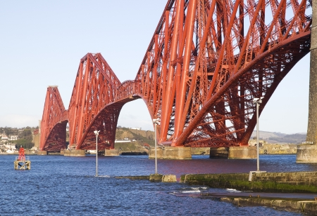 Forth Rail Bridge, Edinburgh, Scotland This bridge connects the towns of North and South Queensferry  photo