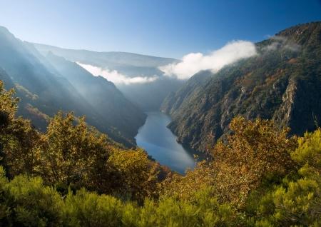 Sil canyon de la rivière à Orense, Espagne endroit beauté de la nature située en Galice, Espagne