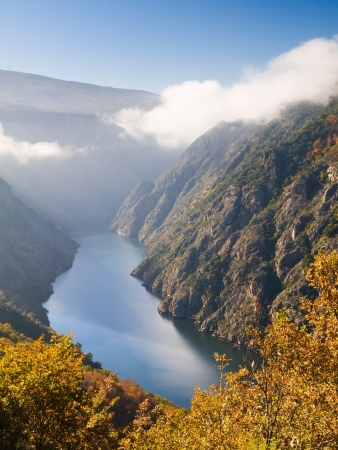 orense: Sil river canyon in Orense, Spain  Beautiful nature place located in Galicia, Spain
