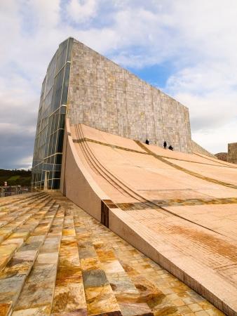 SANTIAGO DE COMPOSTTELA, SPAIN - NOVEMBER 13  City of Culture building on november 13, 2011 in Santiago de Compostela, La Coruna  City of Culture is a building designed by Peter Eisenman
