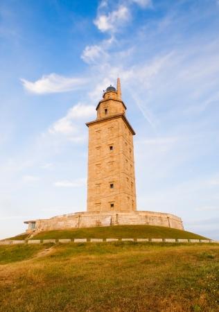 Hercules tower detail in La Coruna, Spain. photo