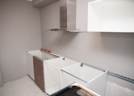 Kitchen under construction inside home
