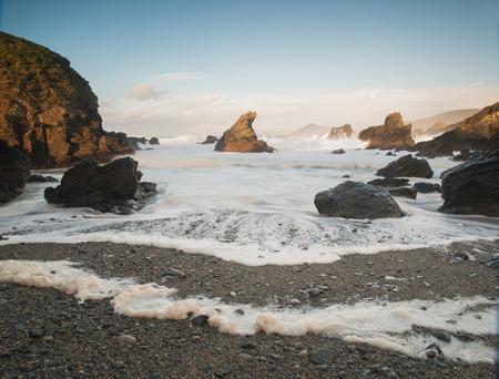 Belle plage de Ferrol, Galice, Espagne.
