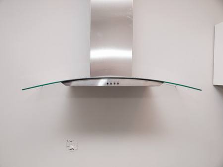 Extractor fan in a kitchen at home photo