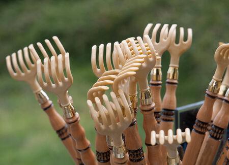galicia: Traditional rakes of Galicia. A typical souvenir.