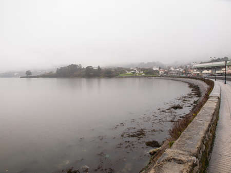 galicia: Sea inlet in Ferrol, Galicia, Spain. This place is called La Malata Stock Photo