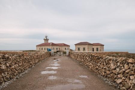 menorca: Punta Nati lighthouse in the northwest of Menorca, Spain.