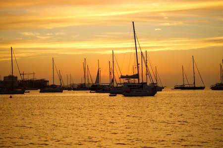 Sailing boats in Ibiza