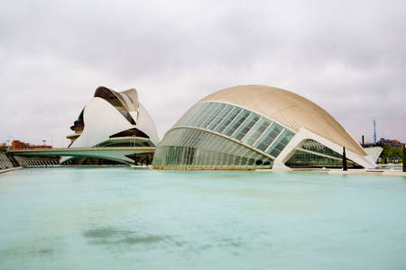 Valencia architectural complex City of Arts and Sciences  Ciudad de las Artes y las Ciencias
