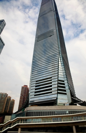 Glass high-rise building in Hong Kong Éditoriale
