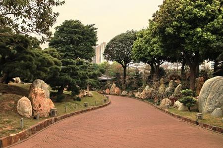 Ð¡ity park in Hong Kong