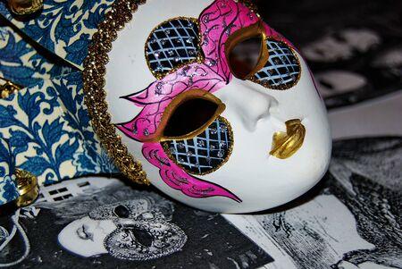 Venetian ceramic mask Banque d'images