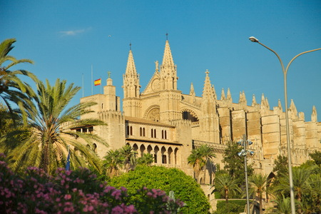 Palma La Seu Cathedral - Balearic Islands Attractions Banque d'images