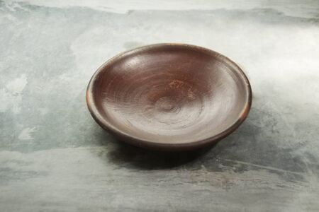 java: Clay plate is a traditional plate in Java Stock Photo