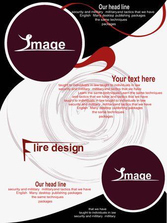 Flyer Design Standard-Bild - 67259851