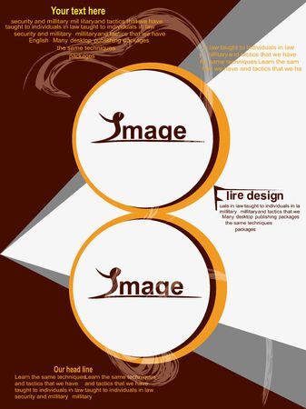 Flyer Design Standard-Bild - 67259850