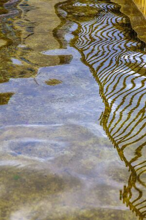 Bridge reflection in water