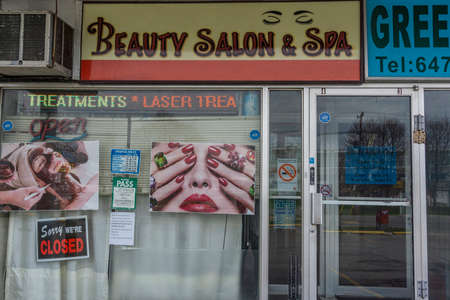Small business like beauty parlour closure during the cover 19 pandemic
