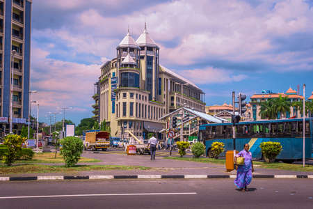 Caudan Waterfront shopping centre, Mauritius Редакционное