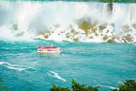 Niagara Falls - Excursion boat navigating Niagara lake
