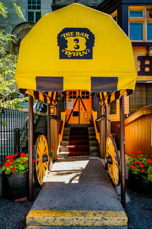 Rustic western style bar restaurant in Montreal, Canada