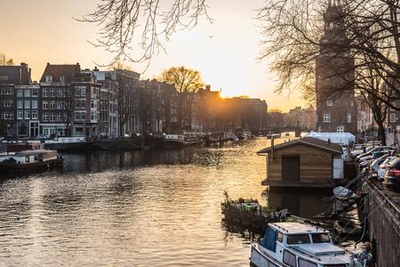 holland: Amsterdam River Stock Photo