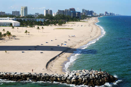 Fort Lauderdale city beach, Florida. Stock Photo - 3575952