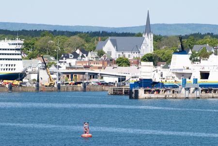 노바 스코샤, 캐나다의 시드니 항구 전망