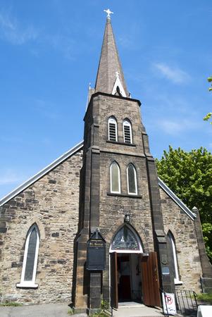 시드니 타운 노바 스코샤, 캐나다에서 역사적인 성공회 세인트 조지 교회 스톡 콘텐츠