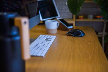 Programming Desk Work Фото со стока