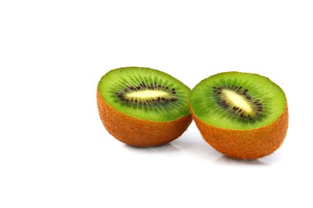 national fruit of china: Kiwi fruit on a white background. Isolation on white,                                 Stock Photo
