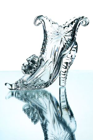 Crystal shoes isolated on a white background                             photo