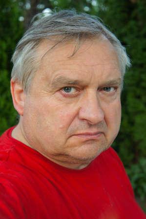 Closeup portrait of an elderly man outdoor Stock Photo - 9710426