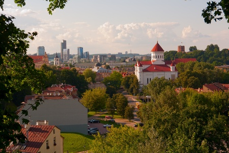 lithuania: The capital of Lithuania Vilnius at sunset