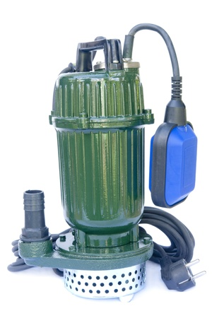 Submersible pump isolated on a white background Stock Photo - 9944646