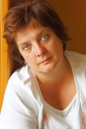 Closeup portrait of an elderly woman  outdoor Stock Photo - 10038097