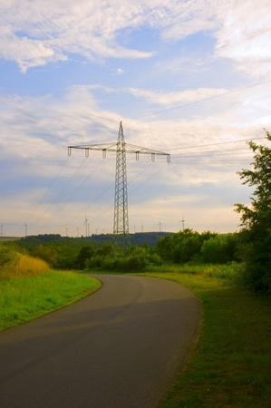 Steel support of overhead power transmission line