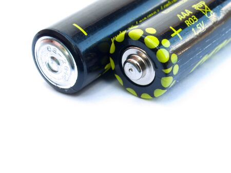 hydride: Two AAA batteries  isolated on a white background
