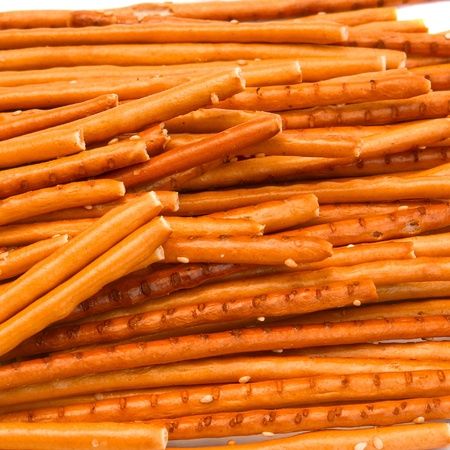 Sticks with sesame isolated on white background Stock Photo - 12187051