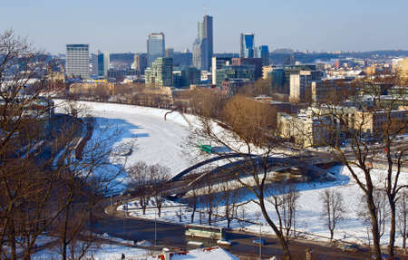 Vilnius - view on the capital of Lithuania in winter photo