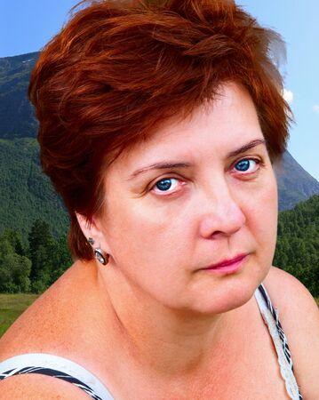 Portrait of an elderly woman outdoors Stock Photo - 14525666