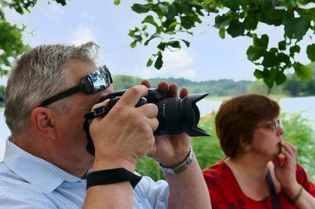 Mature couple travels to Europe, Trakai, Lithuania