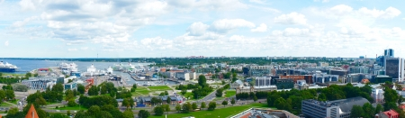 Panorama view of Tallinn, the capital of Estonia photo